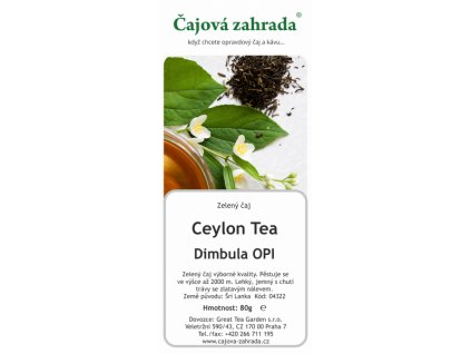 Zelený sypaný čaj Ceylon Dimbula Green
