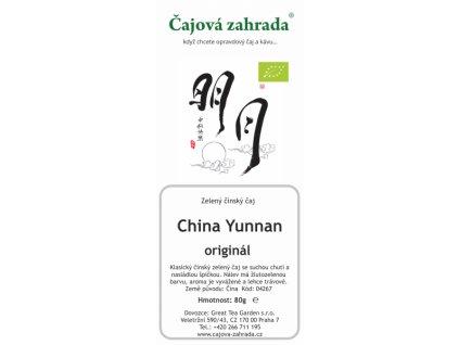 Zelený sypaný čaj China Yunnan Green