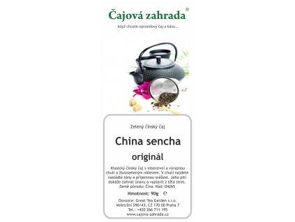 Zelený sypaný čaj China sencha