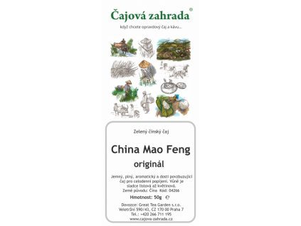 Zelený sypaný čaj China Mao Feng