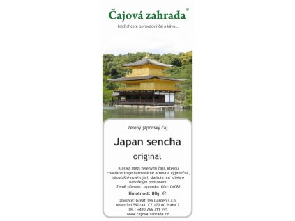 Zelený sypaný čaj Japan sencha