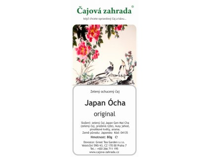 Zelený sypaný čaj Japan Ócha
