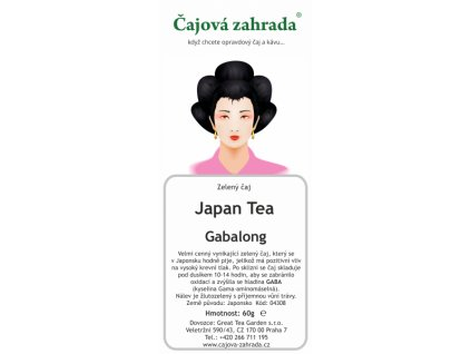 Zelený sypaný čaj Japan Gabalong