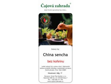 Zelený čaj China Sencha BEZ KOFEINU