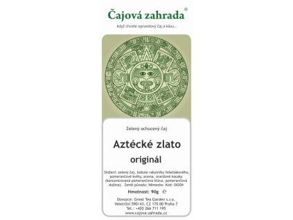 Zelený ochucený čaj Aztécké zlato