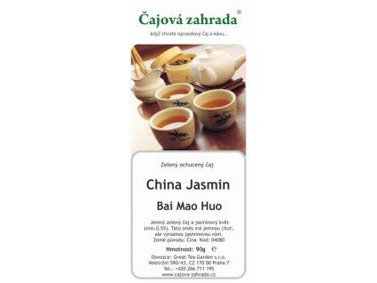 Zelený sypaný jasmínový čaj Bai Mao Huo - jasmínový čaj