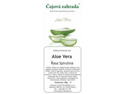 Sypaný zelený ochucený čaj Aloe Vera_Řasa Spirulina