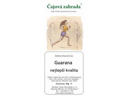 Zelený ochucený čaj Guarana