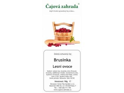 Zelený ochucený čaj Brusinka Lesní ovoce