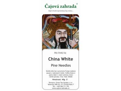 Bílý sypaný čaj China White Tea Pine Needles