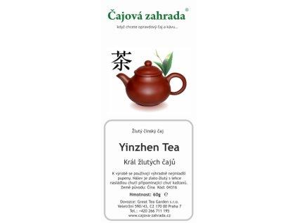 Sypaný žlutý čaj Yinzhen Tea - Král žlutých čajů_Čajová zahrada