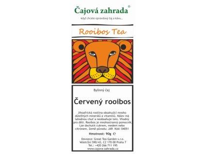 Rooibos sypaný čaj Červený rooibos