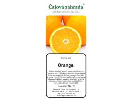 Rooibos sypaný čaj Orange_Pomeranč