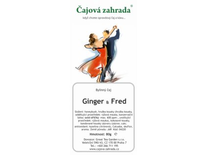 Honeybush sypaný čaj Ginger a Fred