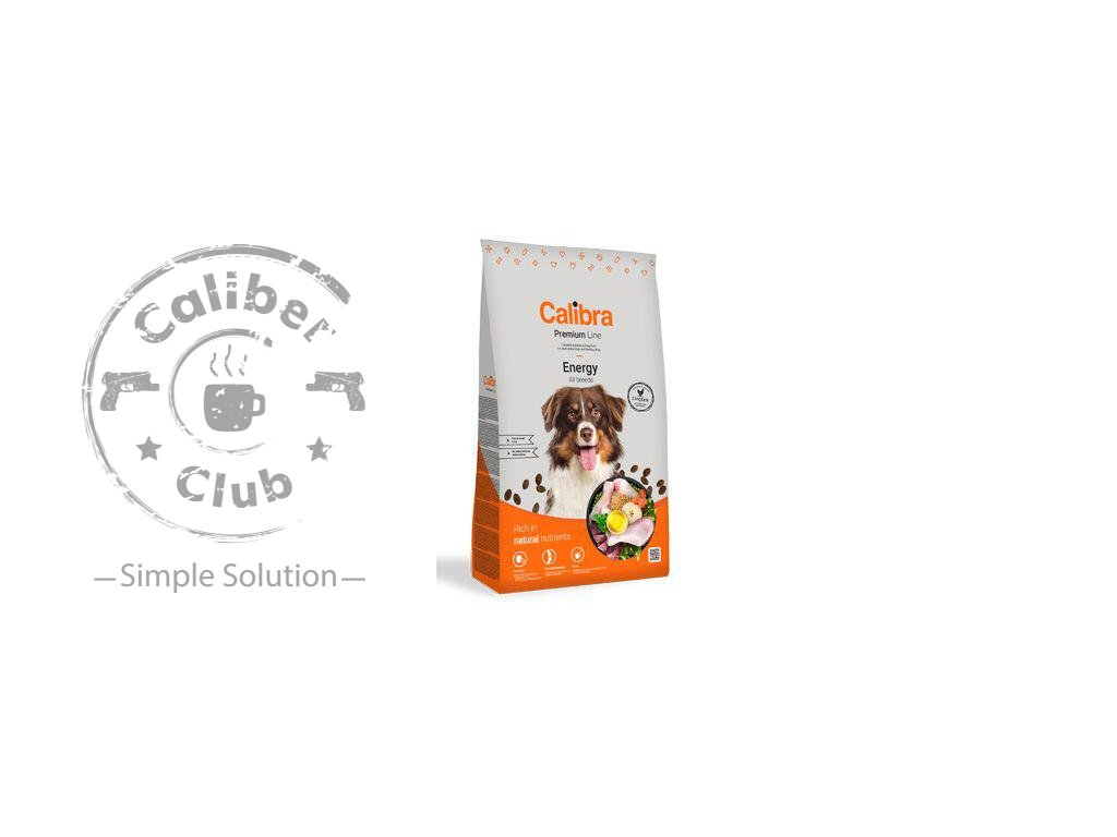 calibra dog premium line energy 12 kg new