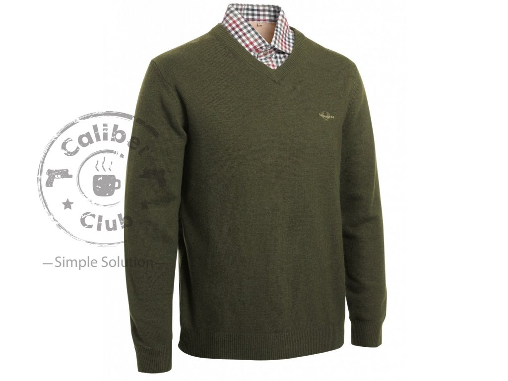 Chevalier lovecká mikina Gary Wool Pullover w Patch green