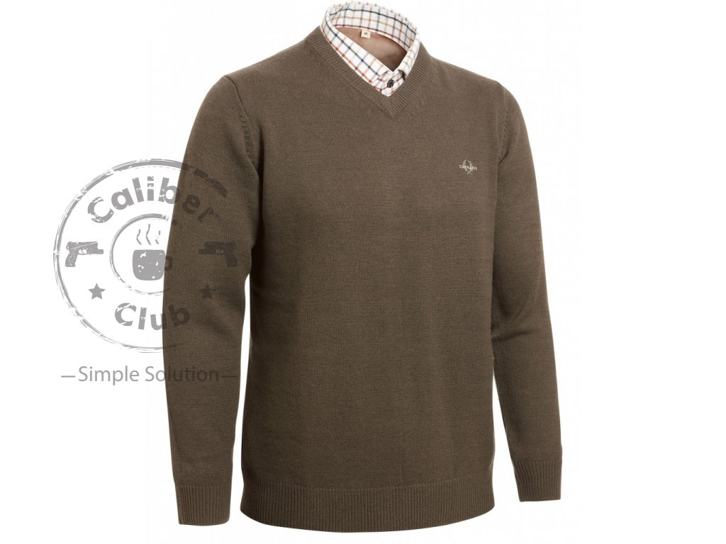 Chevalier lovecká mikina Gary Wool Pullover w Patch brown