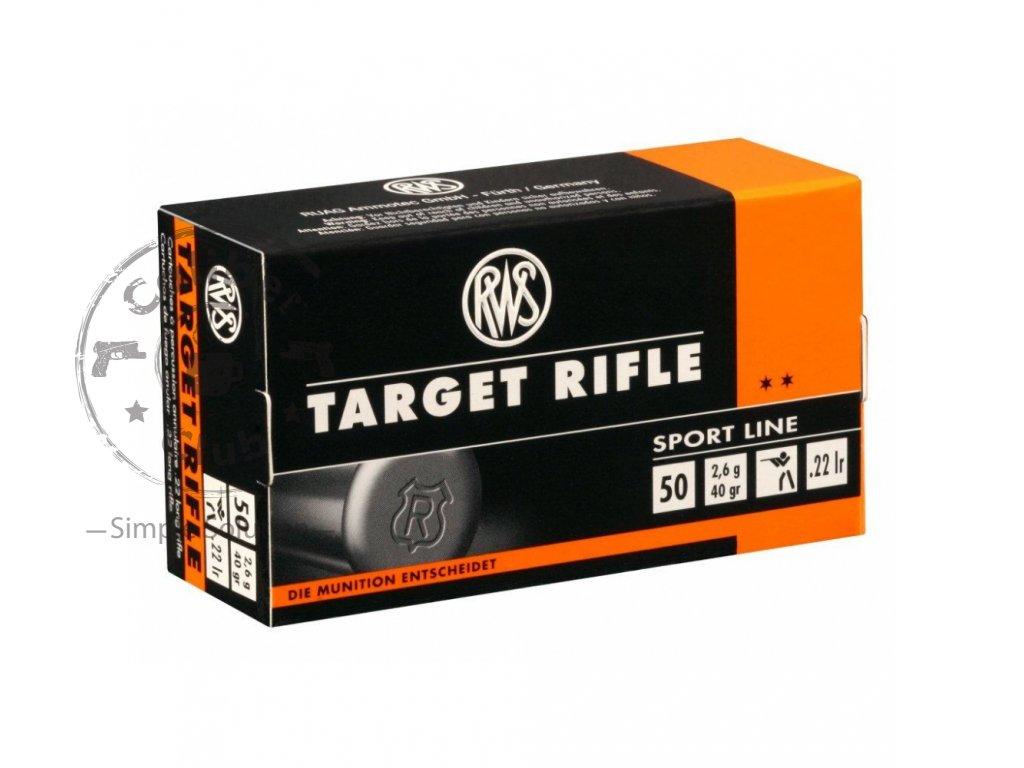 Malorážkový náboj RWS .22 LR Target Rifle