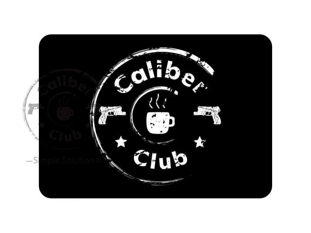 cistici podlozka na zbran s logem caliber club