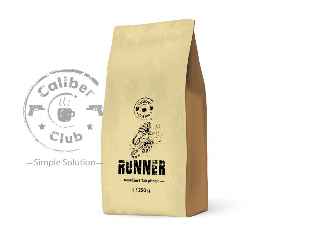 377 caliber coffee runner zrnkova kava 250g