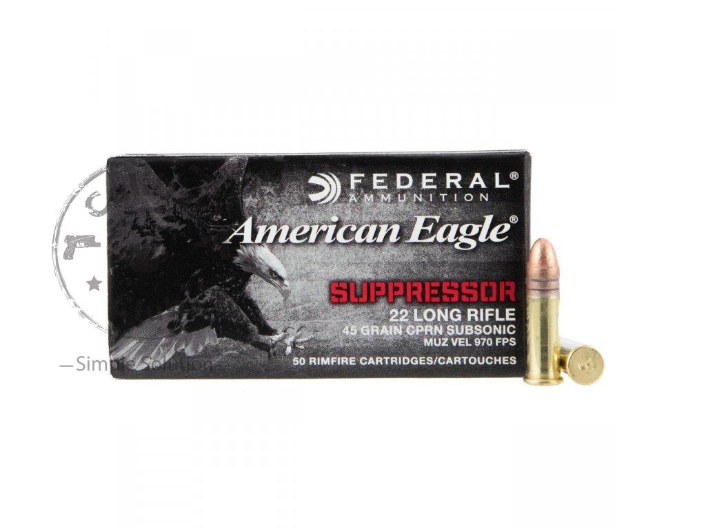 Náboj Malorážkový Norma American Eagle Suppressor 22 LR 45 gr