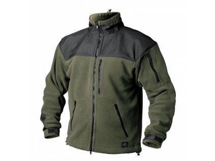 classic bunda fleece zelenočerná
