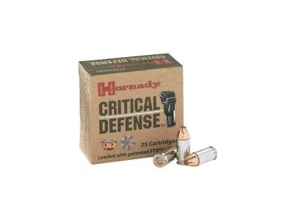 naboj kulovy hornady critical defense 9mm luger 115gr ftx cd