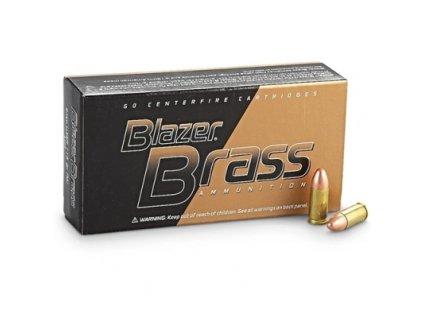 naboj kulovy cci blazer brass 9mm luger 124gr fmj