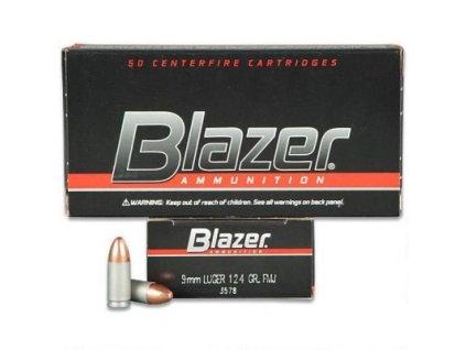 naboj kulovy cci blazer aluminium 9mm luger 124gr fmj