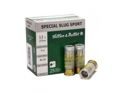 Náboj brokový Sellier a Bellot, Special Slug Sport, 12x70, 28g