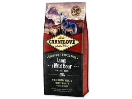 carnilove dog lamb wild boar for adult 12kg