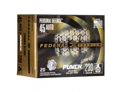 naboj kulovy federal personal defense 45 acp 230gr jhp punch