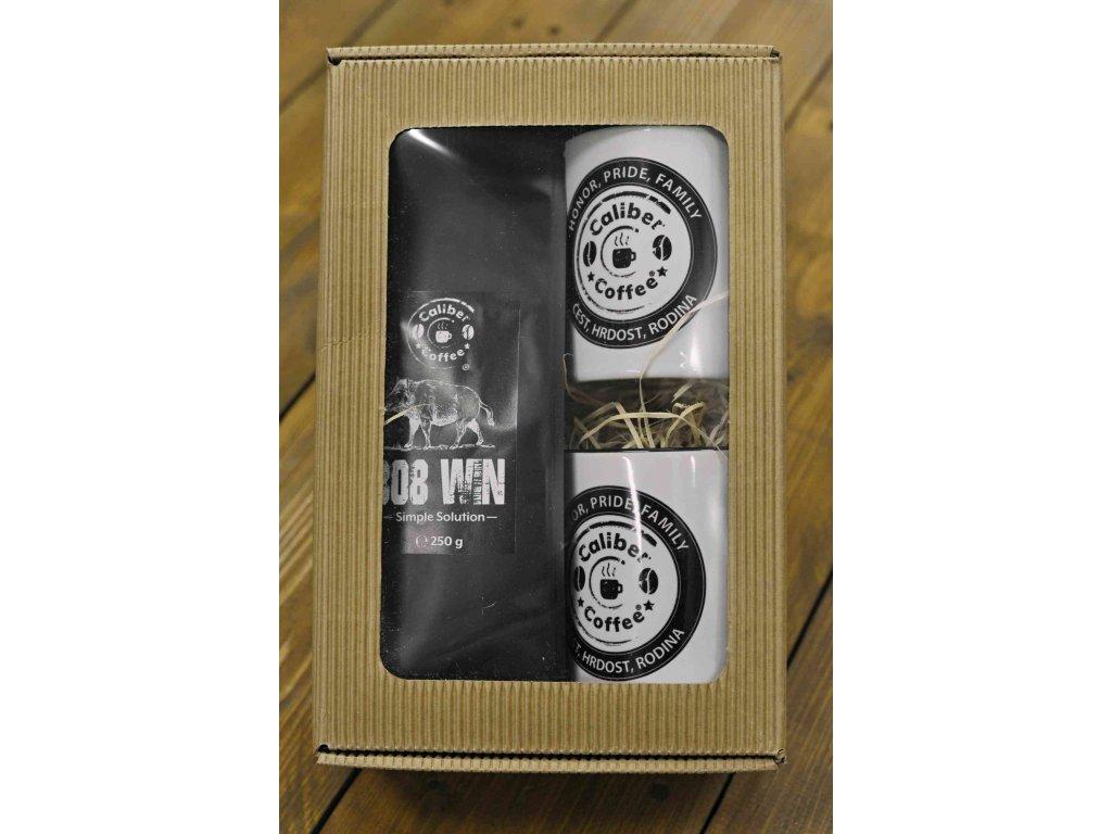 Dárkový balíček Caliber Coffee® .308win divočák + 2x ker. hrnek
