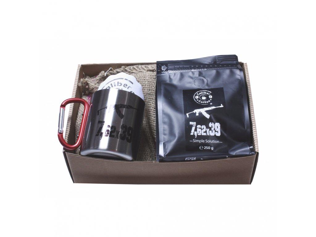 Dárkový balíček Caliber Coffee® 7,62x39 + nerez hrnek s karabinou