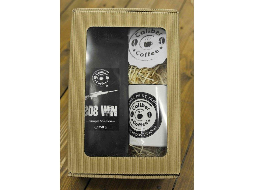 Dárkový balíček Caliber Coffee® .308win Sniper + ker.hrnek, rozetky