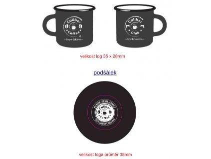 Caliber Coffee® smaltovaný espresso šálek