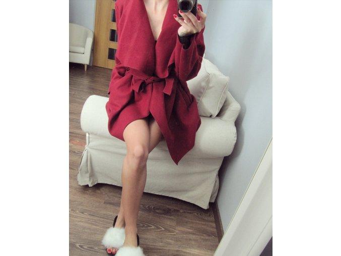 Krátky kabát burgundy
