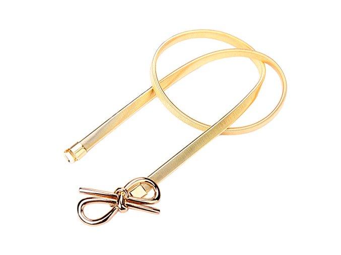 Pružinový pásek na šaty BOW mašlička zlatý 01