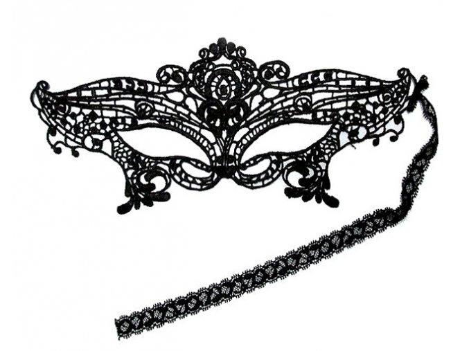 tajemna cerna krajkova maska princess 1