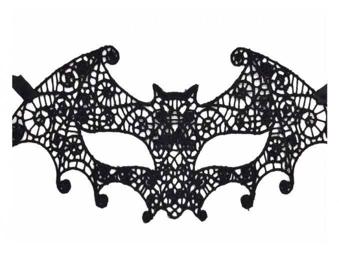 Krajková černá maska Vampire