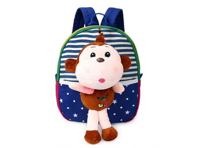 Dětský batůžek pro předškoláky Opička modrý 01
