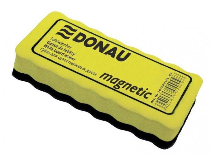 Magnetická mazací houba na bílé tabule DONAU žlutá