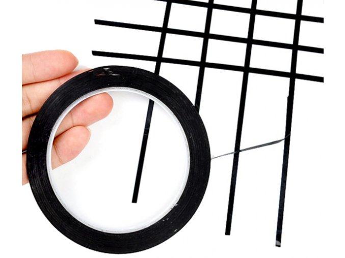 samolepicí linky na whiteboardy černé 01