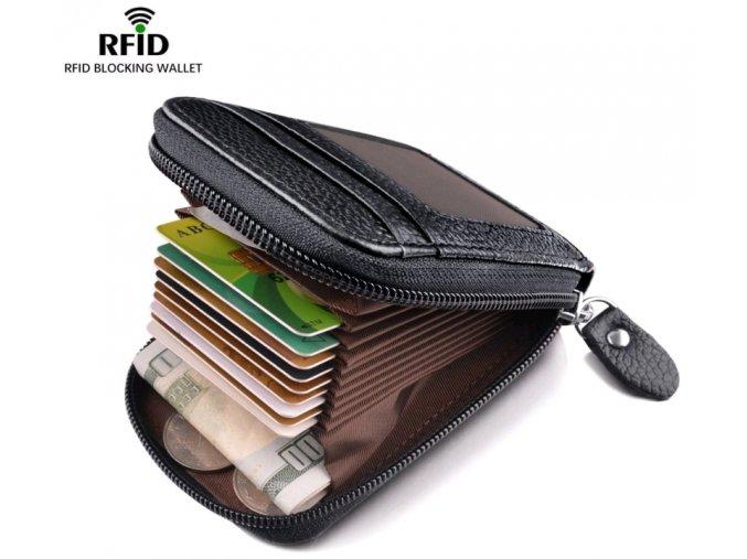 RFID pouzdro na zip černé CASUAL 01