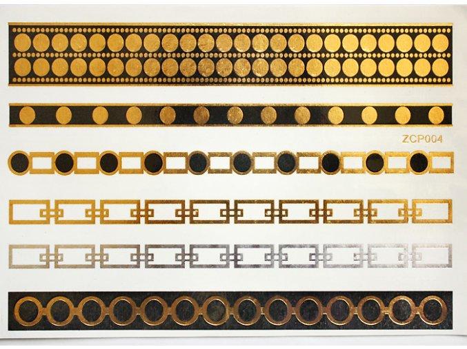 Metalické tetování Gold Tattoo ZCP004
