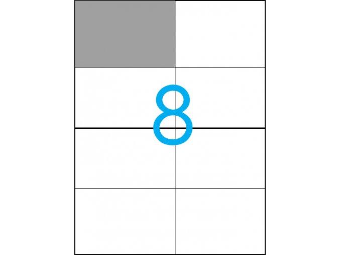 samolepicí štítky A4 do tiskárny 08