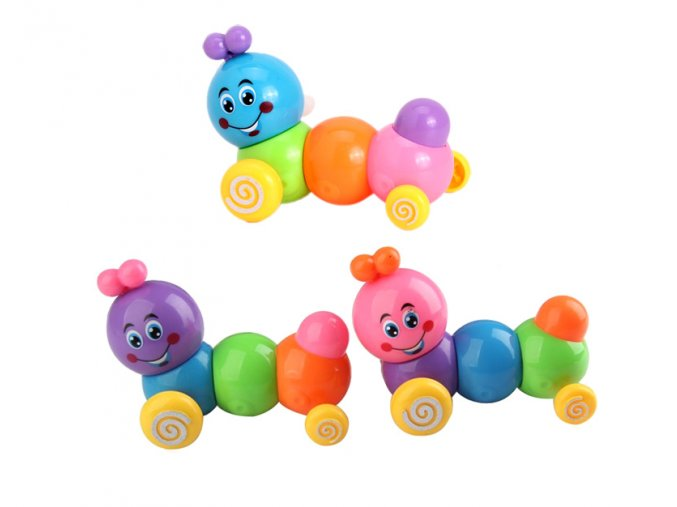 Dětská hračka housenka 01