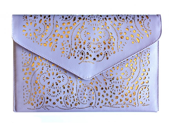 Vintage kabelka krajka fialová lila 01