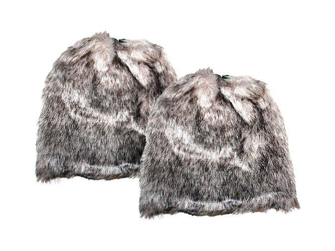 CSX kožešinové návleky na boty Šedé 02