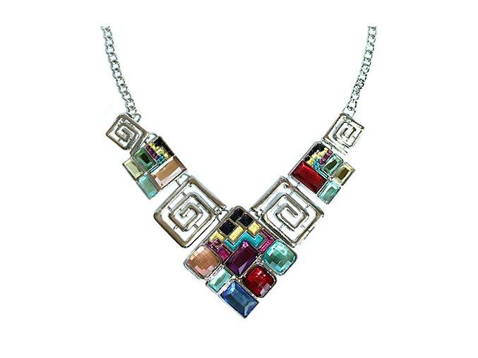 Statement náhrdelník MODERN geometrické tvary 01